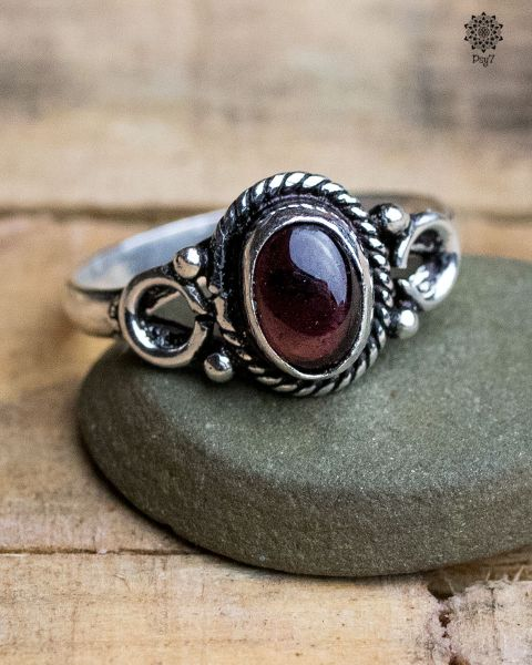 Ring Erin silber | Achat-Beere