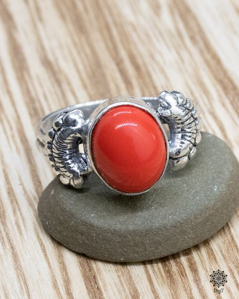 Ring Lifa | Koralle-Imitat