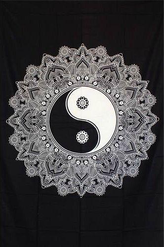 Wandtuch | Überwurf - Lotus Yin Yang
