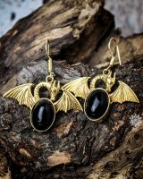Ohrringe Dragon | Obsidian