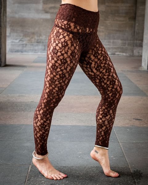 Leggings Lace | braun