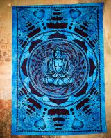 Wandtuch | Dekotuch - Lovely Buddha blau