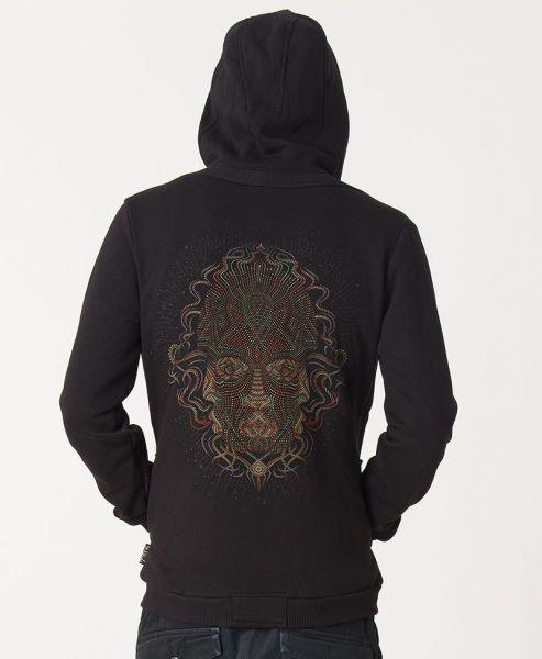 Kapuzenpullover Trimurti | schwarz