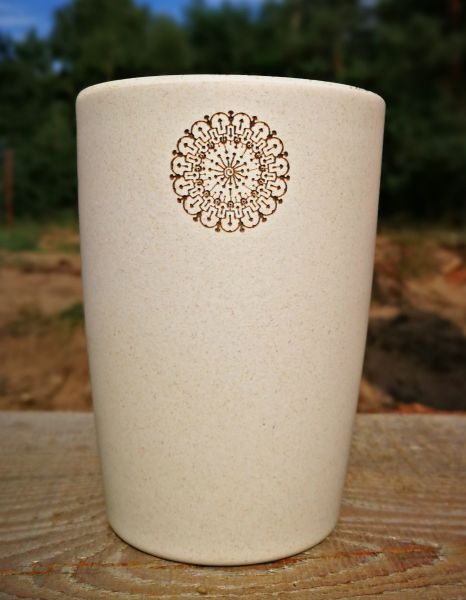 Bamboo Cup SHROOMS HORA | Artwork by Symbolika