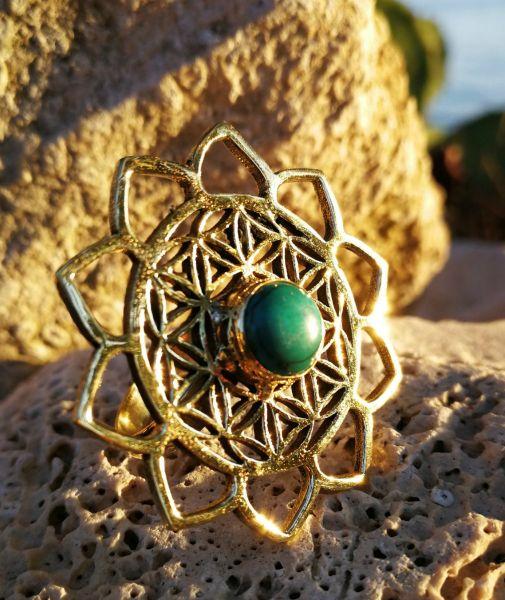 Ring | Lotus Flower Of Life | Türkis