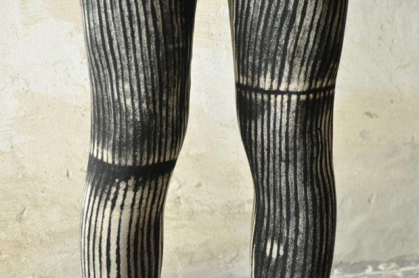 Leggings - Zirkus   schwarz - creme