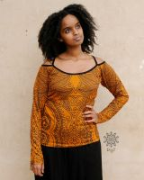 Longsleeve Sedna | Orange Paisley