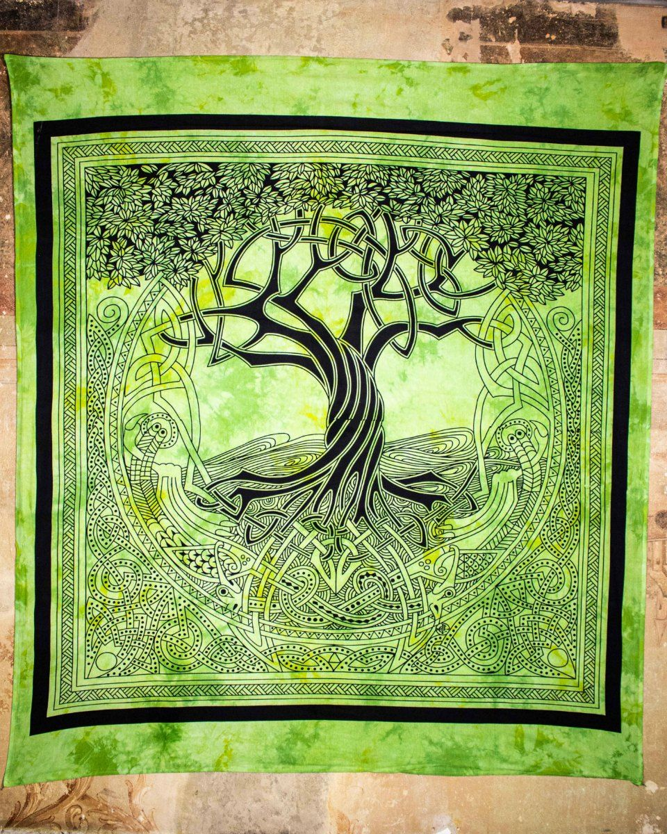 Wandtuch | Dekotuch - keltischer Lebensbaum - Yggdrasil