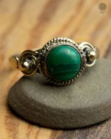 Ring Poppy | Malachit