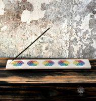 Räucherstäbchenhalter | Sandstein - Blume des Lebens