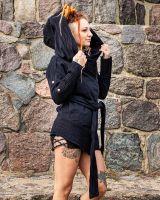 Mantel Asymmetrisch - schwarz