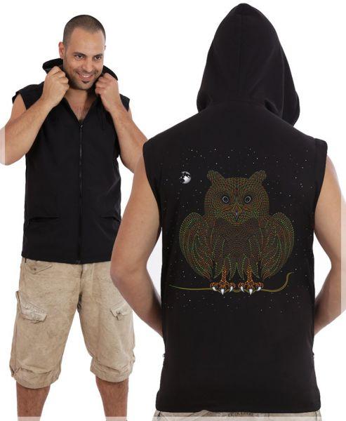 Mikrofaserweste Owl | schwarz