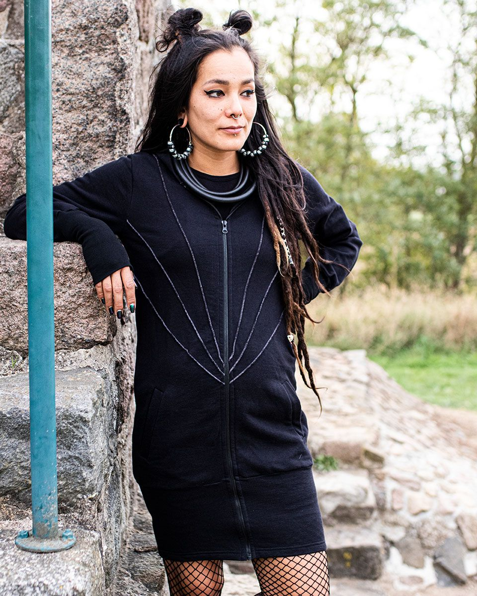 Langjacke   Mantel - Anki   schwarz