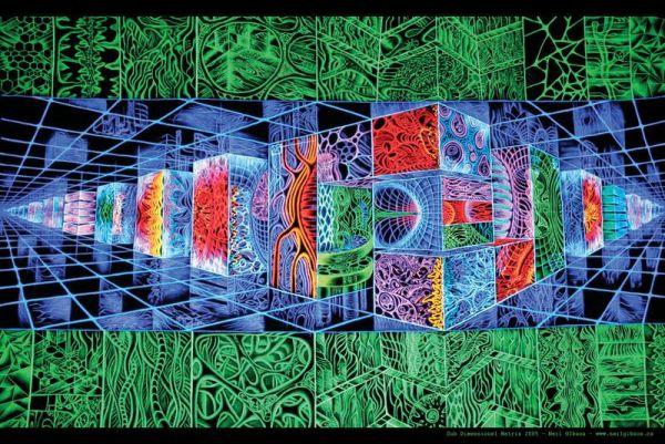 "Poster ""Sub Dimensional Matrix"" | Größe A1 | by Neil Gibson"