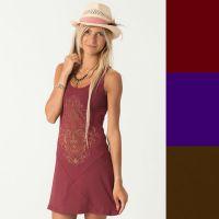 Trägerkleid | Trimurti - rot | lila | braun