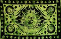 Wandtuch | Überwurf - The SUN & The MOON - green