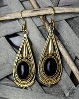 Ohrringe Etnix Collection - schwarzer Achat