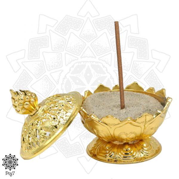 Räuchergefäß Lotus | Gold