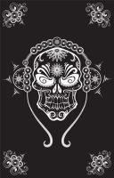 Wandtuch - Bettüberwurf  DJ Skull Head