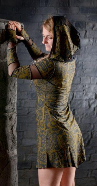 Kleid Inanna - Khaki Tribal