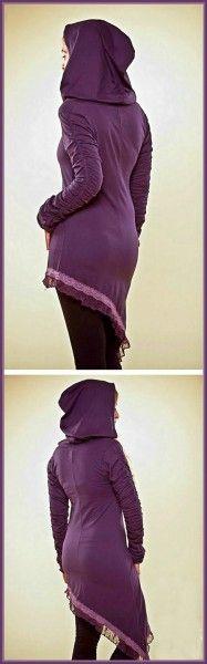 Kleid Ruffle Tuniq - purple | green