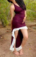 Kleid Linda | bordeaux