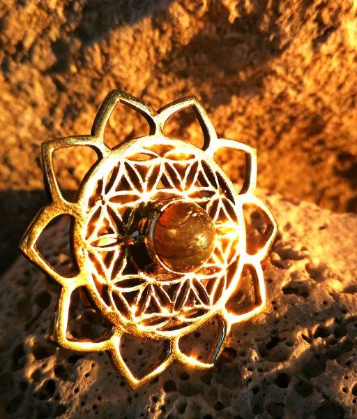 Ring | Lotus Flower Of Life | Labradorit