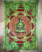 Wandtuch | Dekotuch - Lovely Buddha grün