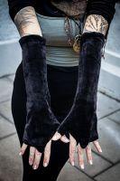 Samt Armstulpen - Handstulpen | Aurelie - schwarz