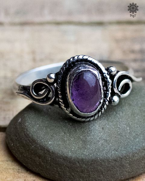 Ring Alrun silber | Amathyist