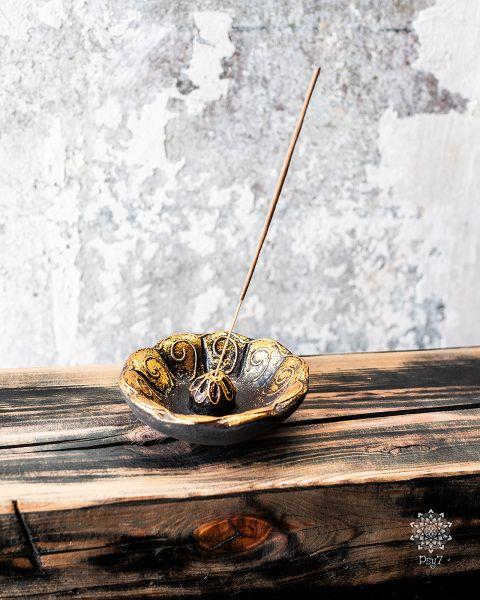 Räucherstäbchenhalter Lotus   Gold