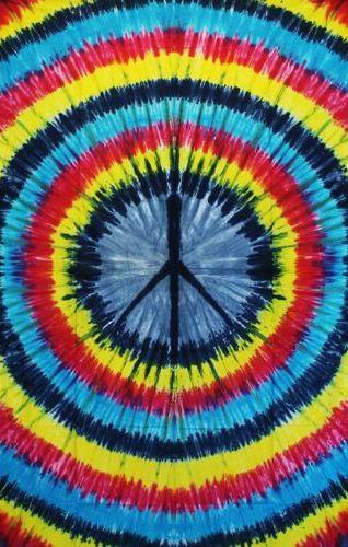 Wandtuch | Überwurf Batik Spirale - Peace
