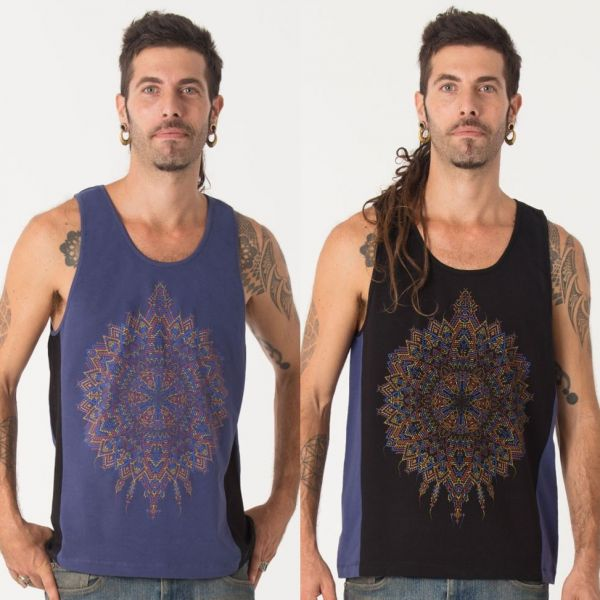 Tank Top Mexica | black blue