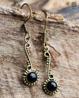 Ohrringe Edina | Obsidian