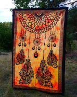Wandtuch - Bettüberwurf Traumfänger orange