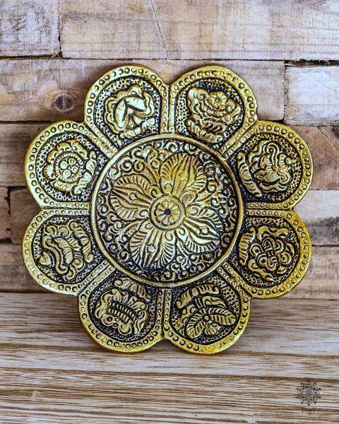 Räucherteller Glückssymbole   Gold