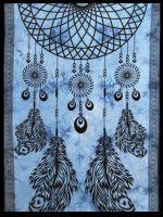 Wandtuch ✼ Bettüberwurf Traumfänger blau