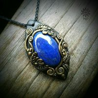 Amulett | Halskette - Lapislazuli