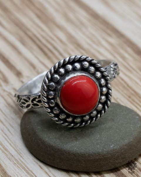 Ring Ava | Koralle-Imitat