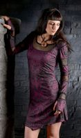 Kleid Inanna - Plum Tribal