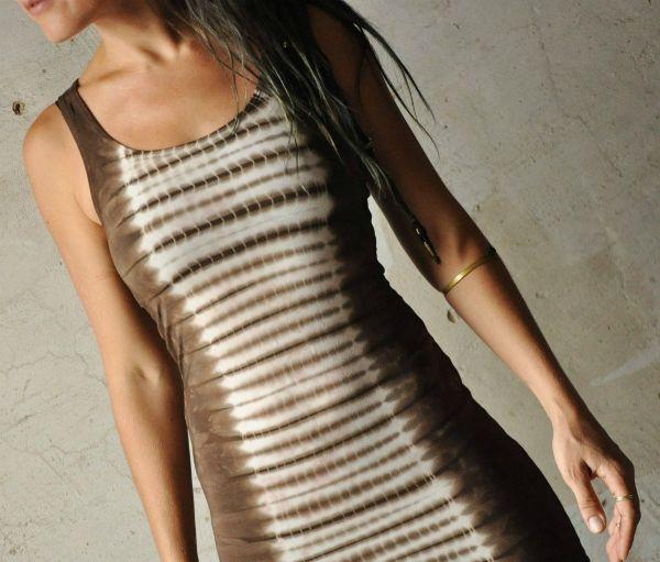 Longtop   Stonewash Tie Dye Waves   brown
