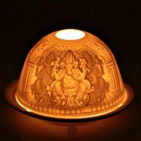 Lichtkuppel | Porzellan Teelicht - Ganesh