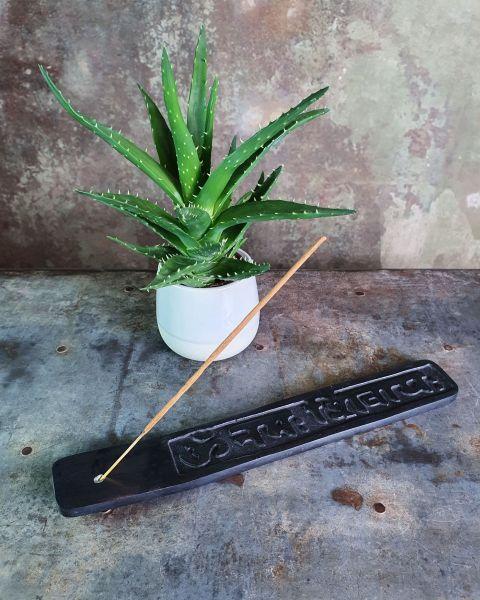 Räucherstäbchenhalter Speckstein | Om Namah Shivaja