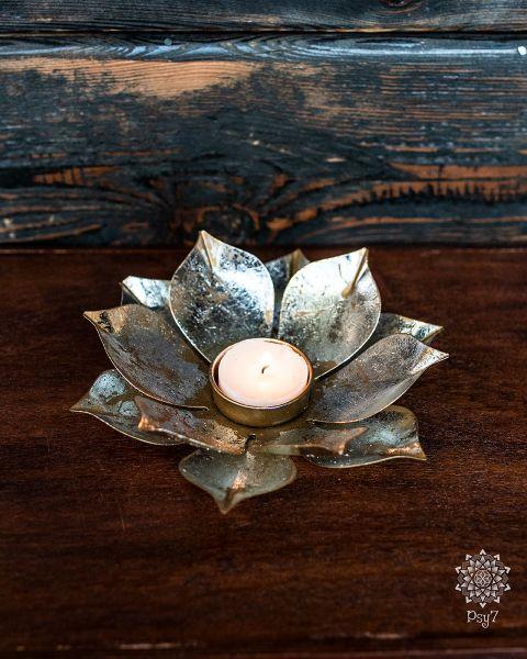 Vintage Teelichthalter | Messing - Lotus