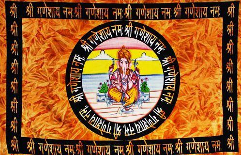 Wandtuch | Überwurf - Sanskrit Ganesha