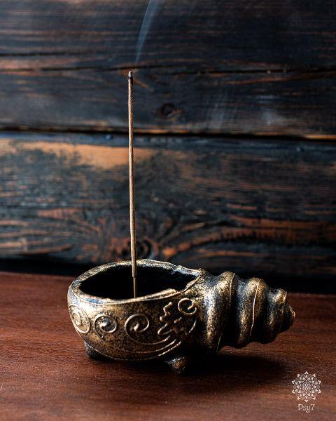 Räucherstäbchenhalter Schnecke | Gold