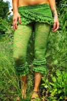 Lace Pants - green