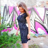 Maja Dress - Aztek black