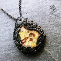 Amulett | Halskette - Ammonit