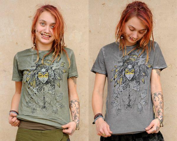 T-Shirt Banshee - olive | grau
